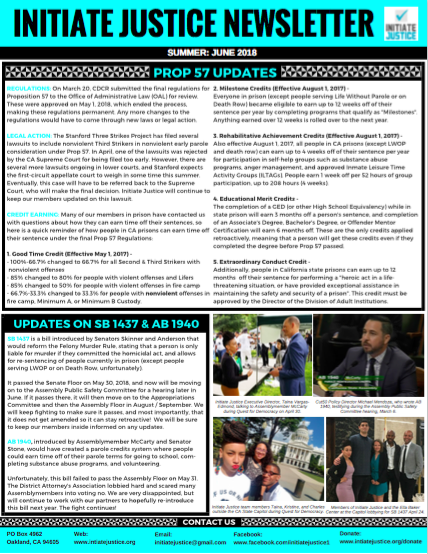 Newsletter #4 – Summer 2018