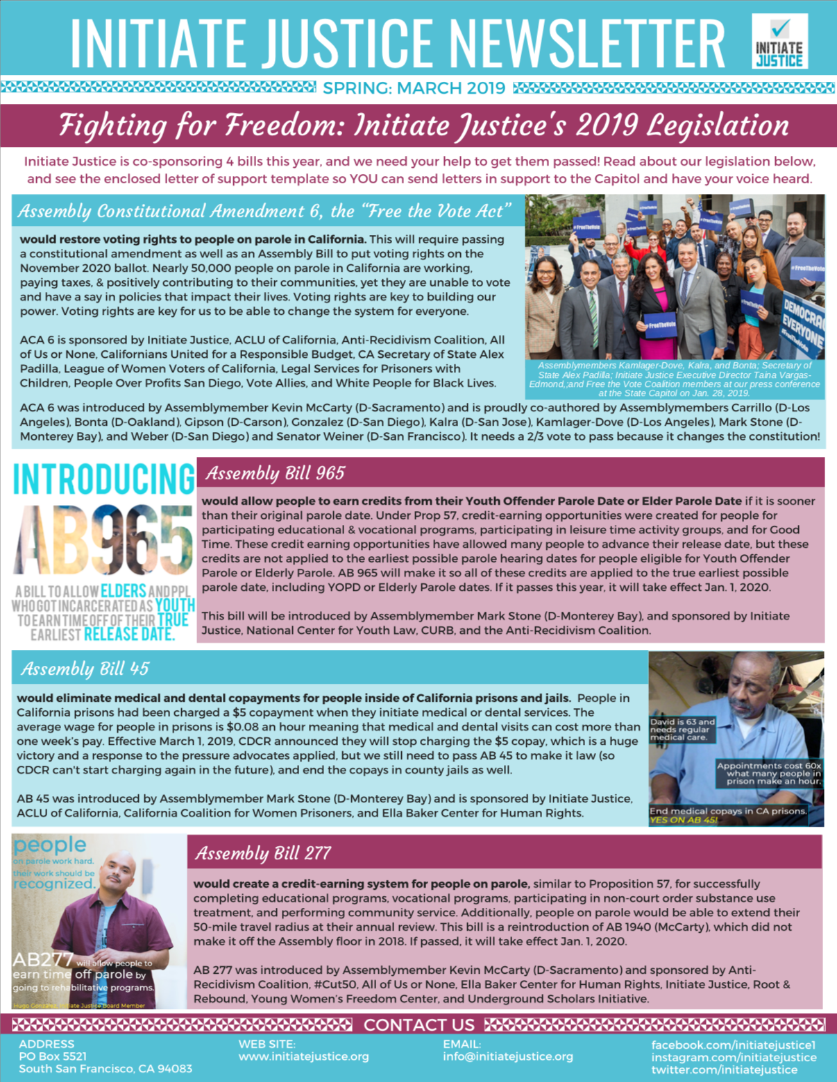 Newsletter #7 – Spring 2019