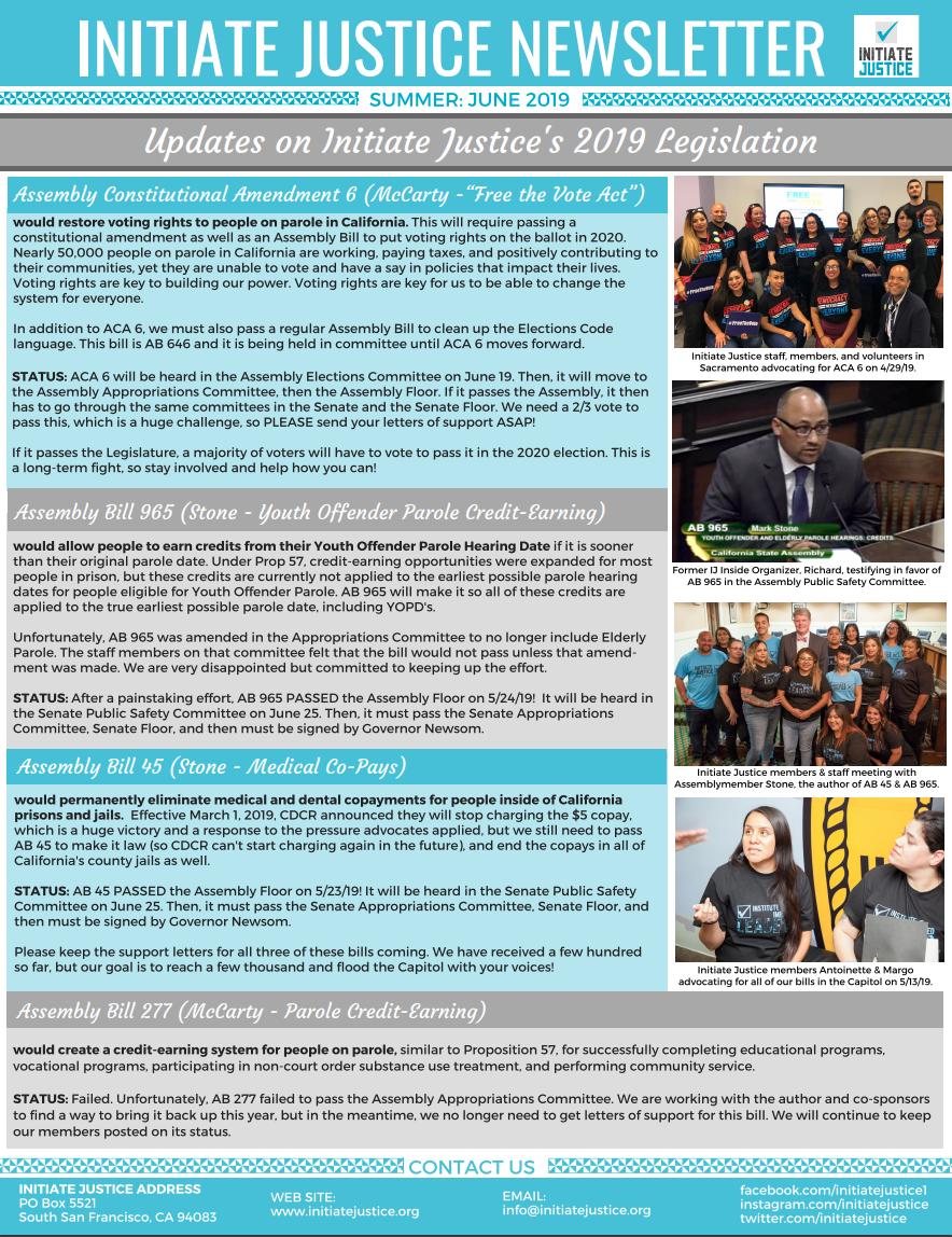 Newsletter #8 – Summer 2019