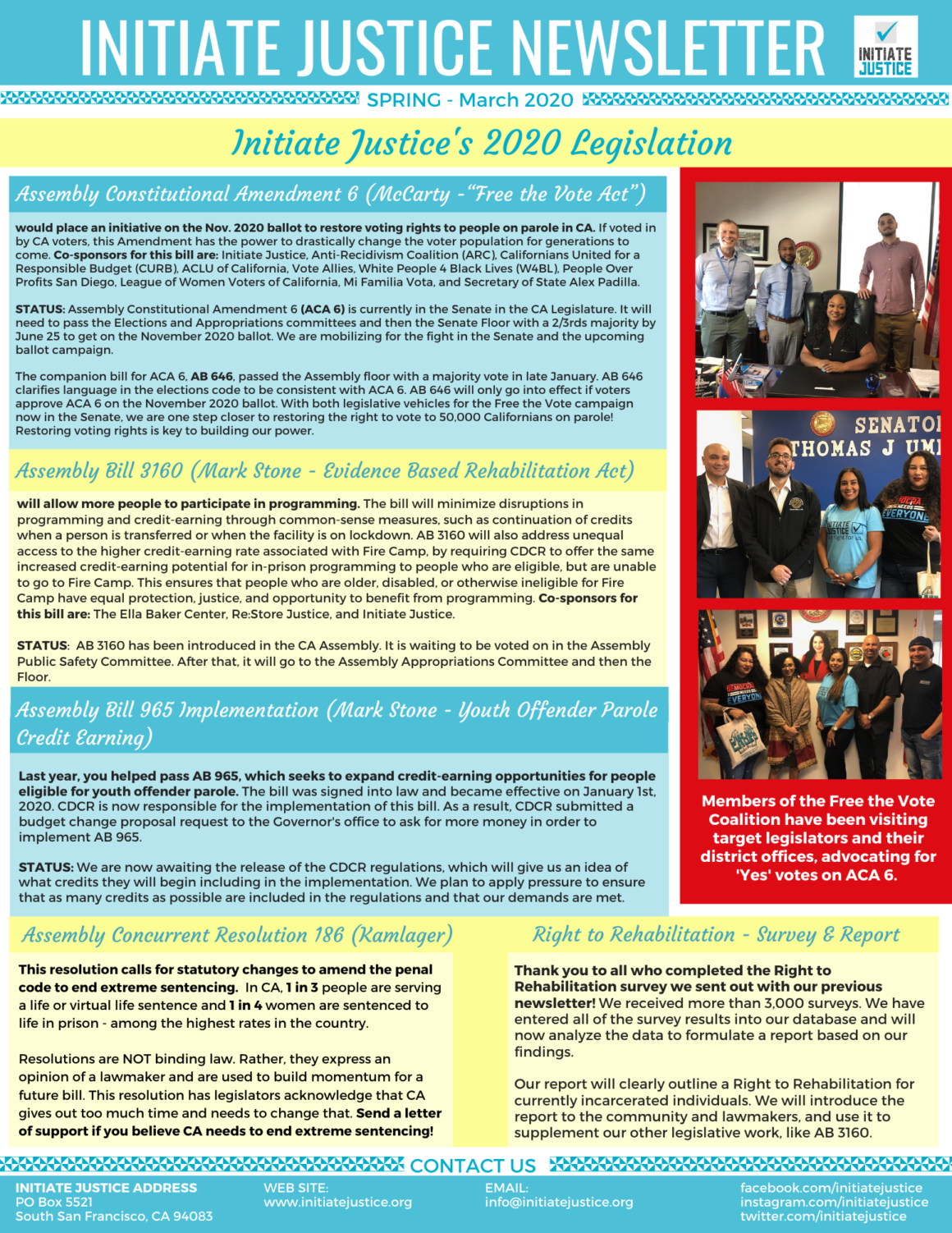 Newsletter #11 – Spring 2020