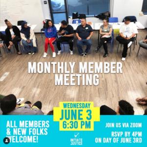 June Member Meeting