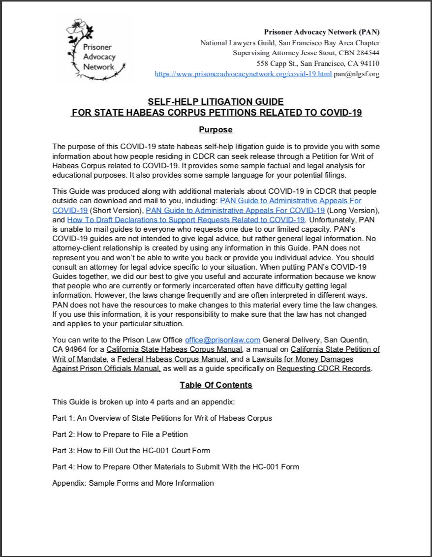 PAN – COVID-19 Litigation Guide