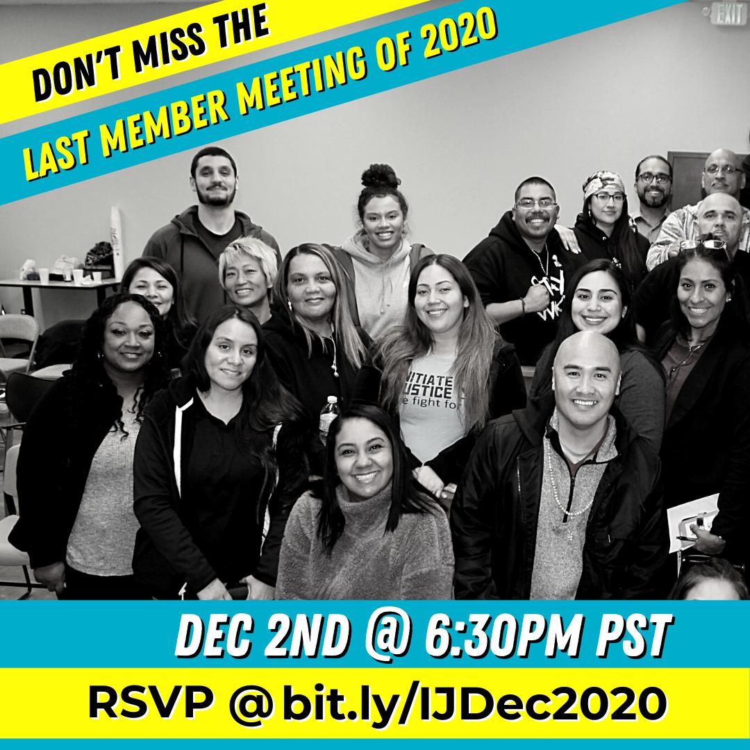 December 2020 Member Meeting