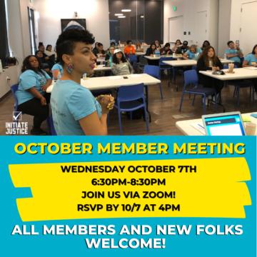 October 2020 Member Meeting